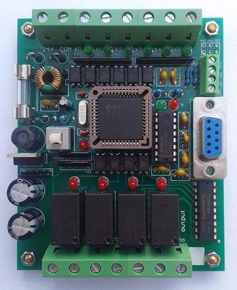 Fast Free Ship PLC Chinese Brand PLC Industrial Control Board 51 MCU Control Panel FX1N 2N 10MR PLC Learning Board