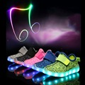 Summer Kids Sport Shoes LED Sneakers Children Breathable Shoes Colorful Lighted Luminous Shoes for Boys & Girls