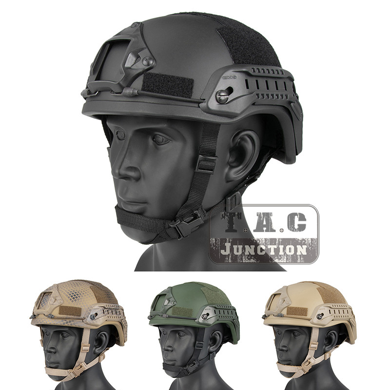 Emerson Tactical ACH ARC MICH 2001 TC 2001 Helmet Advanced EmersonGear Head Protective with NVG Shroud