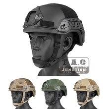 Emerson Tactical ACH ARC MICH 2001 TC-2001 шлем Улучшенный EmersonGear головной защитный с NVG кожухом и боковой рейкой