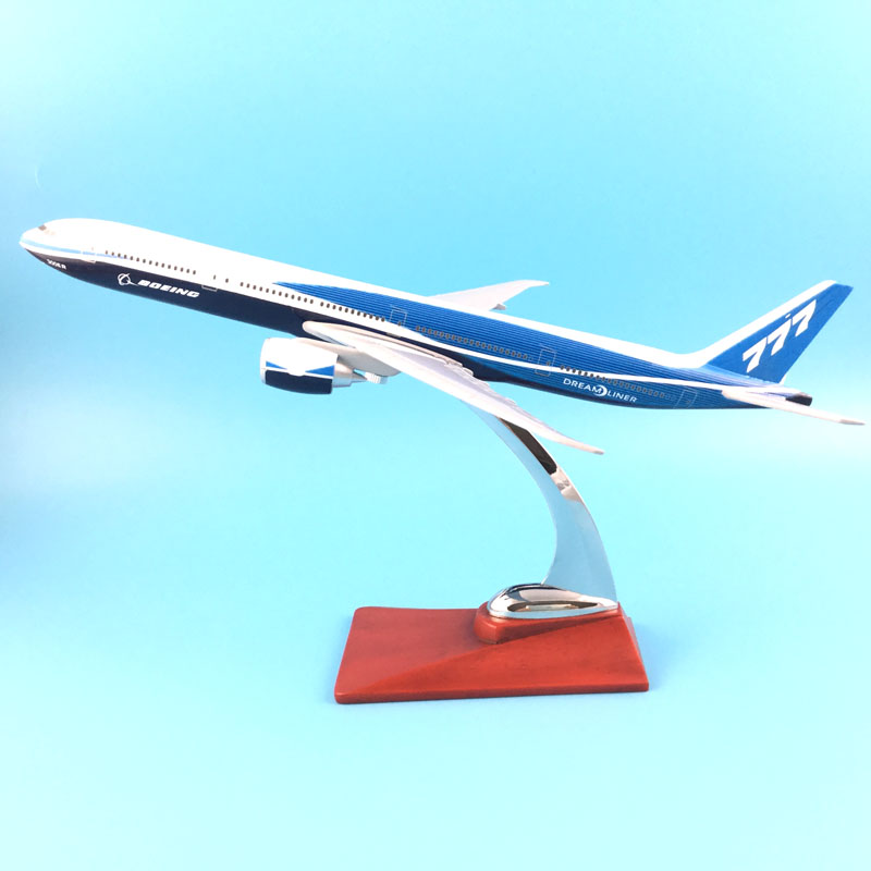 FREE SHIPPING 31CM BOEING LIVERY 777 METAL BASE RESIN MODEL PLANE AIRCRAFT MODEL TOY AIRPLANE BIRTHDAY GIFT new phoenix 11207 b777 300er pk gii 1 400 skyteam aviation indonesia commercial jetliners plane model hobby