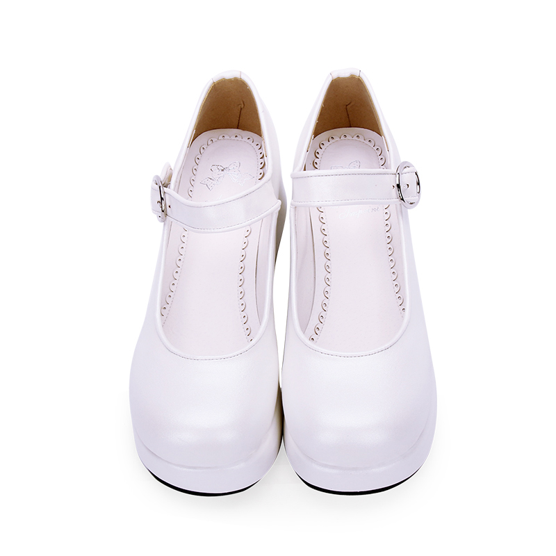 цена Angelic imprint woman mori girl lolita cosplay shoes lady high heels wedges Pumps women princess dress party shos Size35-46 6016