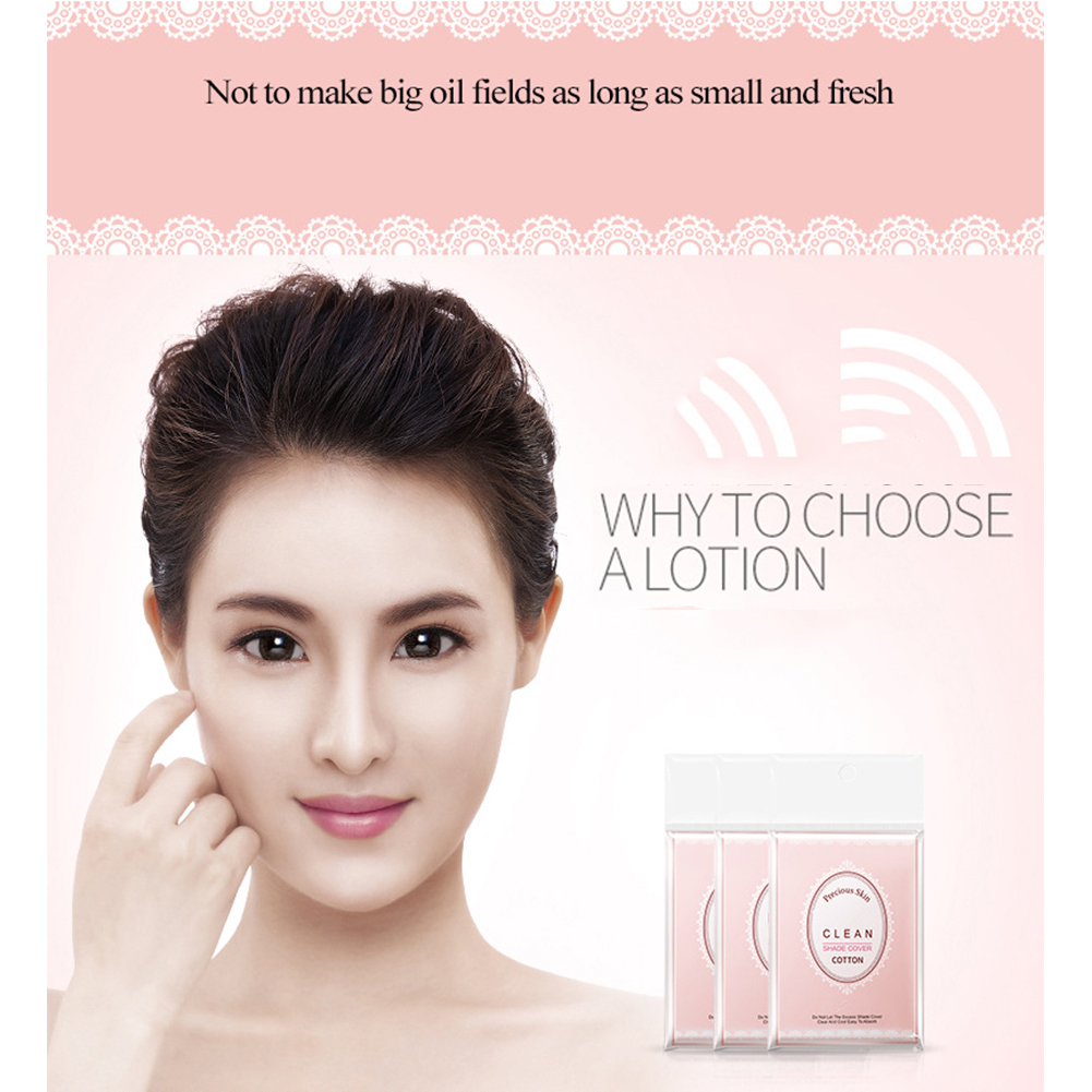 100Pcs Makeup Smooth Lightweight Oil Absorbing Natural Portable Soft Effective Blotting Paper Face Tissue Cleansing Professional