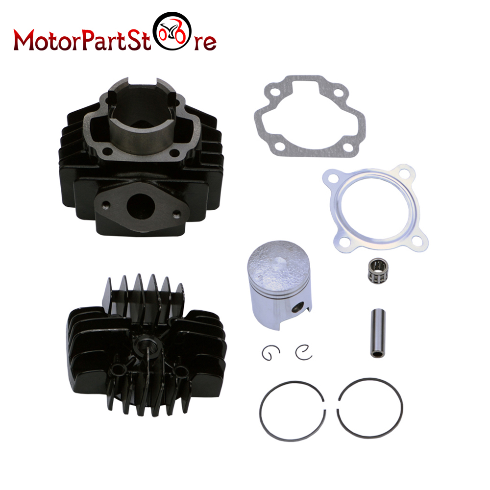 PW50 QT50 Cylinder Head Piston Gasket Kit 40mm for YAMAHA PW50 1981 2009 QT50 1979 1987-in Engines from Automobiles & Motorcycles    3