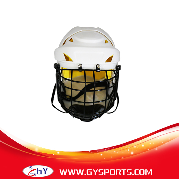 ФОТО newest white ice hockey helmet with steel mask sports equipment for head PH9000C