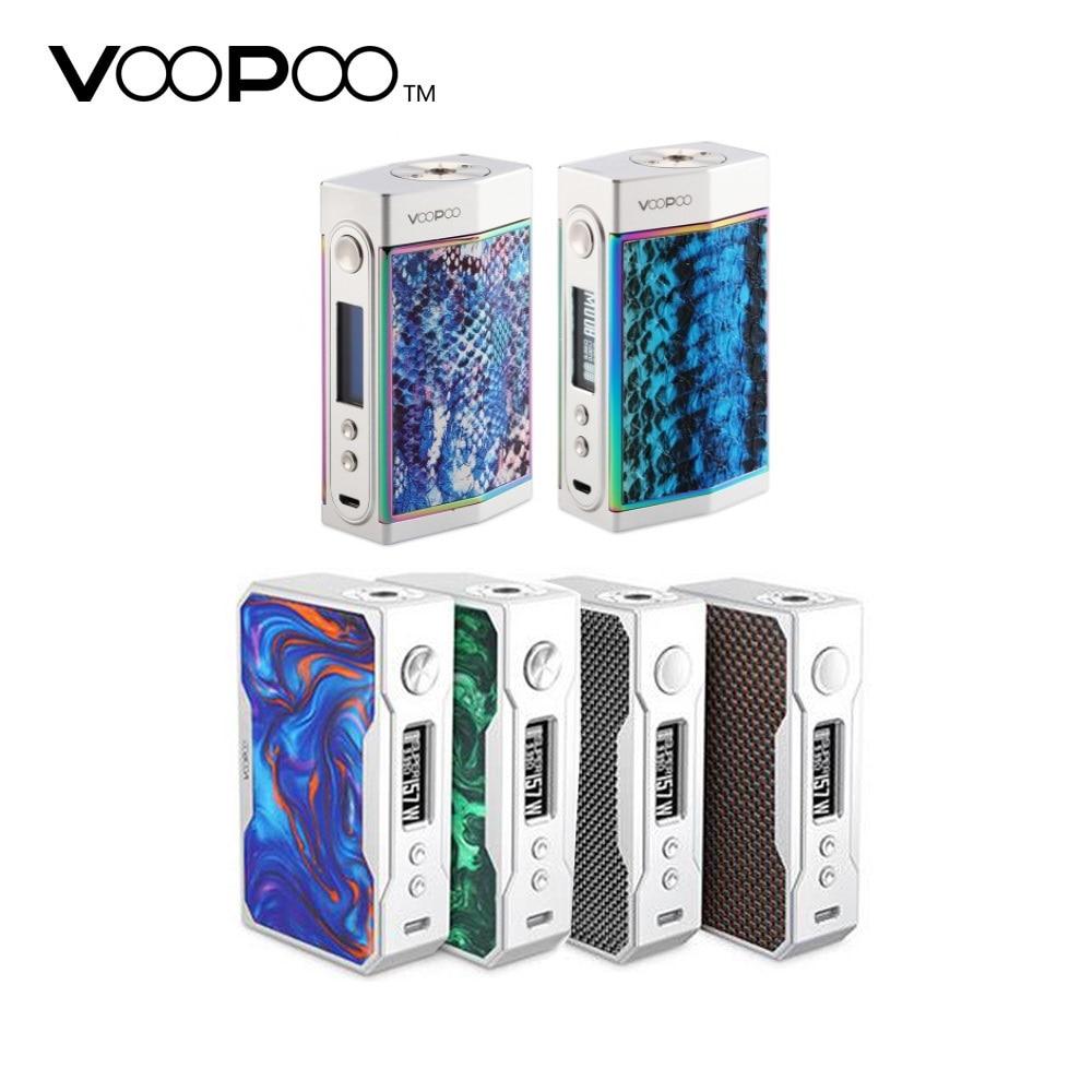 100% Authentique VOOPOO Glisser 157 W boîte de tc Mod VS VOOPOO TROP 180 W Boîte Mod No18650 boîtier de batterie Mod vs Glisser 2 /luxe mod