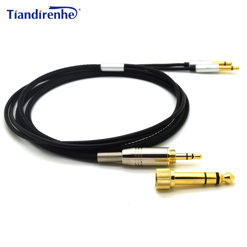 Cable for Denon AH-D600 D7100 D7200 Velodyne vTrue Headphones Replacement Audio Cable Cords 6.35 / 3.5mm to 2 x 3.5mm Jack