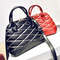 2016 New Fashion Vintage Plaid Women Bag PU Leather Handbag Messenger Bag Shell Diamond Lattice Shoulder Bags