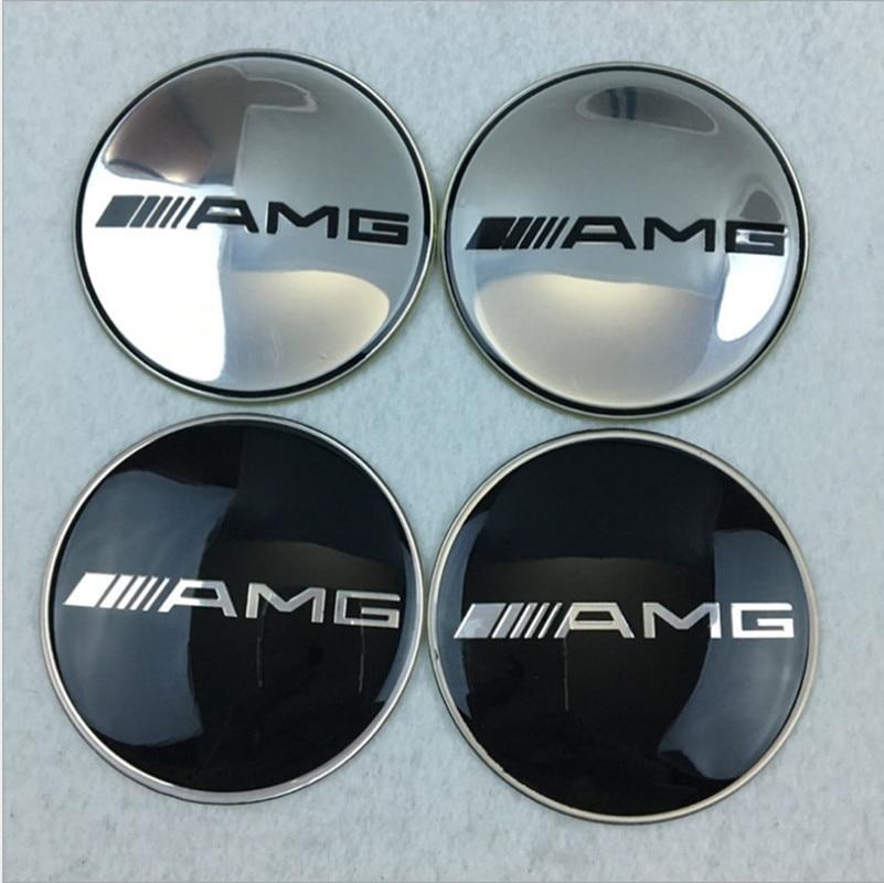 4pcs Automotive metal hub center patch For Benz w220 w202 w210 w203 w639 w638 w168 c180 c260 c300 Car-Styling Accessories