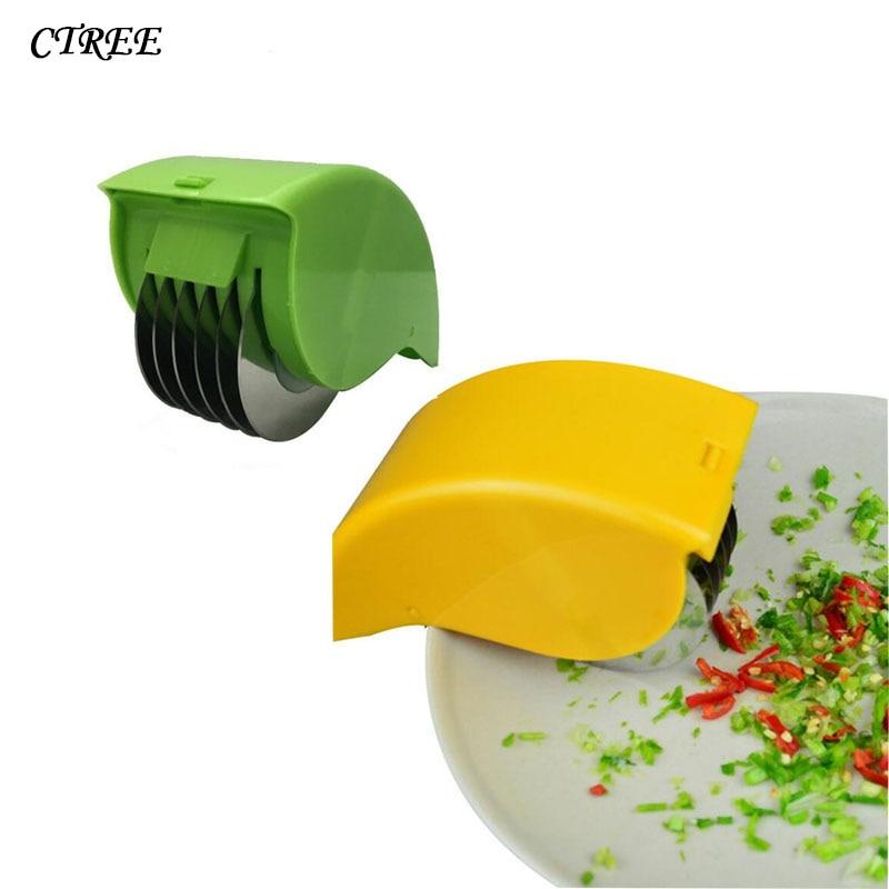 CTREE 1Pcs Cutters Wheel Vegetables Slicers Chopper Shredders Slicer Roller Shredded Scallion Cut Spices Kitchen Gadgets C200