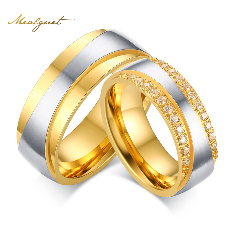 Gold Plated Wedding Rings: Aliexpress.com : Buy Meaeguet Gold Plated Wedding