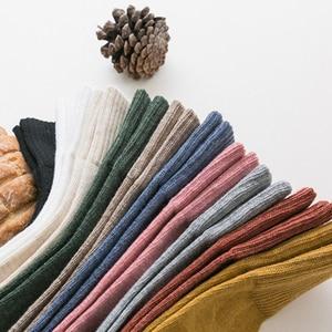 Image 5 - VERIDICAL kobieta skarpetki bawełniane krótkie dobrej jakości biznes Harajuku cukrzycowe puszyste skarpetki Meia skarpetki termiczne mody 5 par/partia
