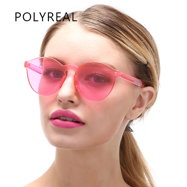 Luxury Glasses Fashion Clear Men Candy Sunglasses Eye Cat Transparent Brand Sun polyreal Yellow 63 Us3 58Off Designer Women Goggles Rimless In WED92IHY