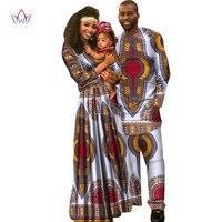 Африканская одежда дети Дашики Семья Для мужчин рубашка с длинным рукавом Для мужчин набор плюс Размеры Африканский Костюмы с длинным рука