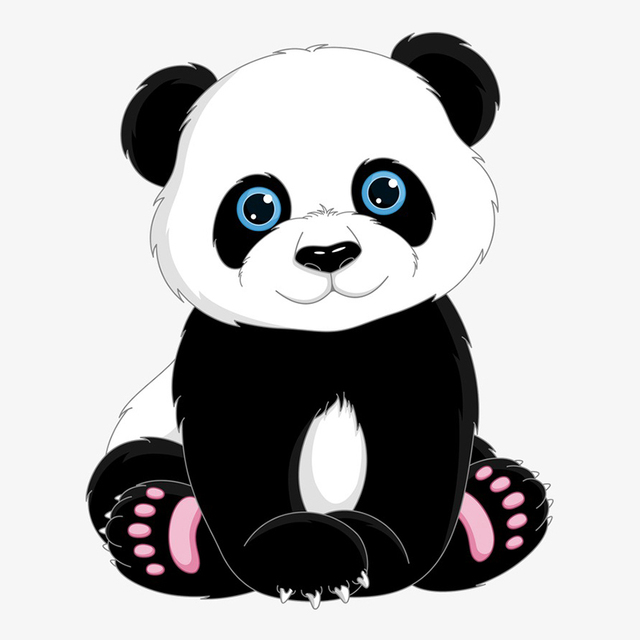 Tancredy 1619cm Cute Panda Cartoon Car Sticker Vinyl Window Body Customized Colorful Decal
