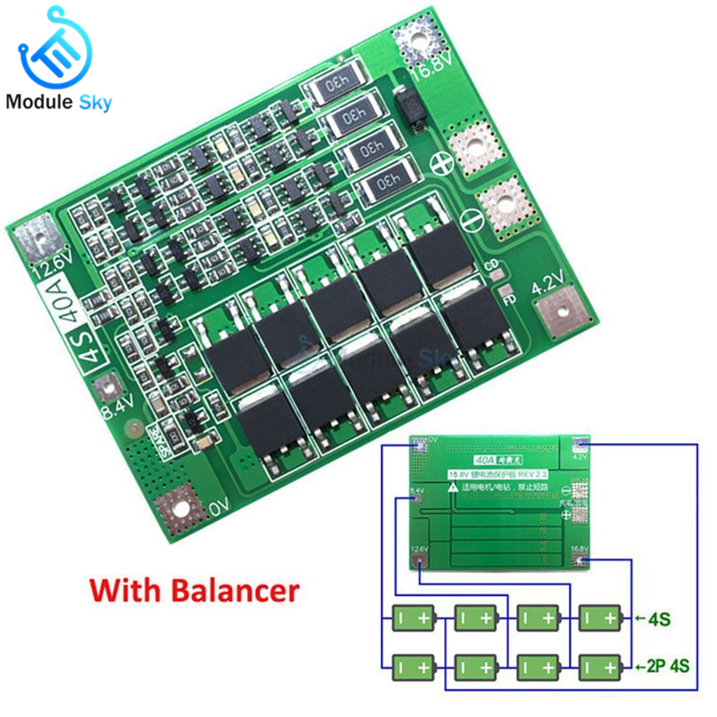 BMS PCB balanceador protección circuito 35a para 16s//60v ion de litio Batería Packs