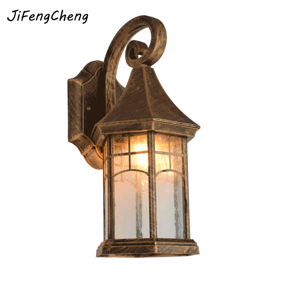 European Waterproof Outdoor Lighting Retro Wall Lamp American Creative Garden Lights Balcony Staircase Corridor Wall Lamp E27 объектив sigma af 18 200mm f 3 5 6 3 dc macro os hsm contemporary nikon f