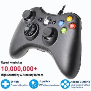 Image 2 - USB السلكية غمبد ل Xbox 360 تحكم المقود ل مايكروسوفت الكمبيوتر تحكم ل ويندوز 7/8/10