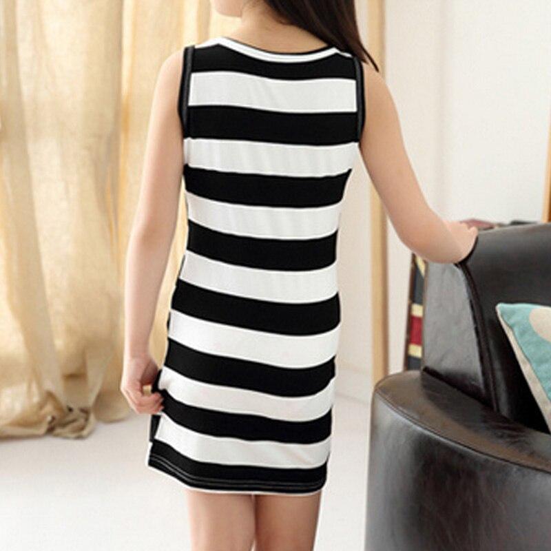 Hot-Sale-Children-Girls-Clothing-Black-And-White-Stripes-Summer-Girl-Dress-100-Cotton-3-14-Kids-Vest-Dresses-for-Teenage-Girls-4