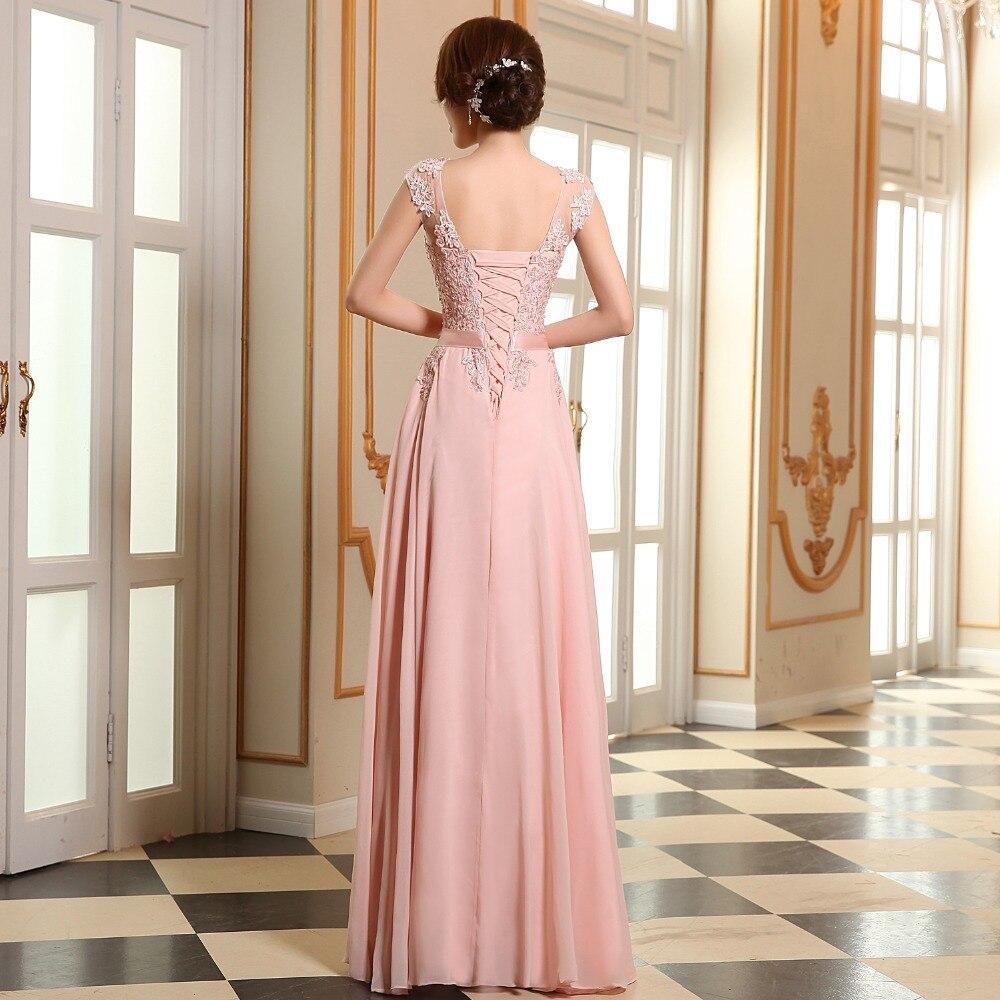 Vestido largo eveing dama color coral dama de honor vestidos de ...