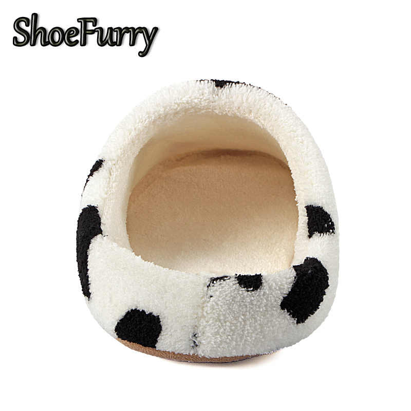 ShoeFurry Winter Home Slippers Women Cotton Shoes Soft Plush Indoor Slippers Shoes For Lady Girl Cute Warm Fur Slippers Big Size