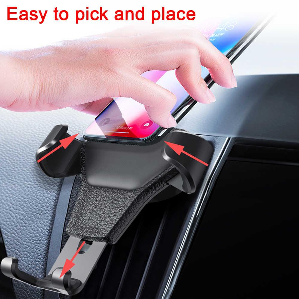 """Rovtop uchwyt samochodowy na telefon w uchwyt samochodowy na odpowietrznik nie namagnesowany stojak na telefon komórkowy uniwersalny na 4.7 """"-6.5"""" Smartphone"""