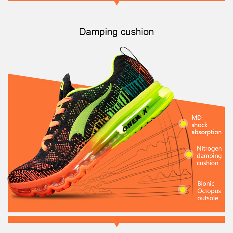 ONEMIX Men's Sport Running Shoes Music Rhythm Men's Sneakers Breathable Mesh Outdoor Athletic Shoe Light Male Shoe Size EU 39-47 2
