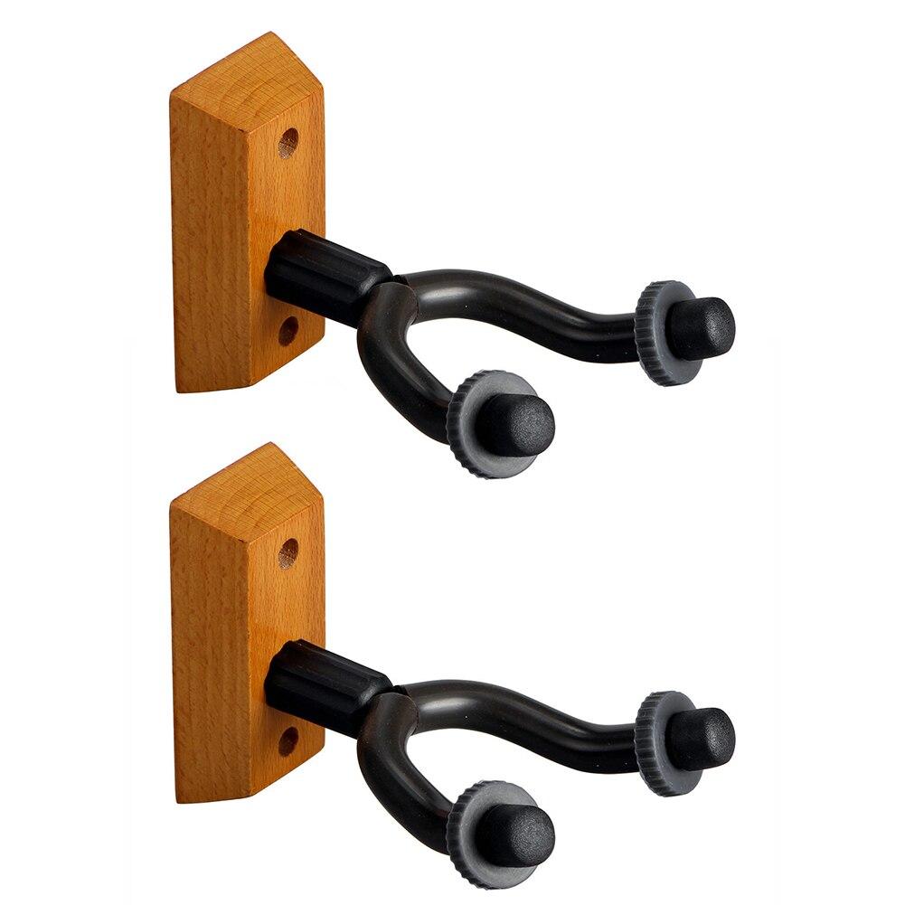 2pcs Hook Guitar Hanger Wall Mount Holder Display Bracket Electric Acoustic Hanging For Bass Wood Base Great Varieties