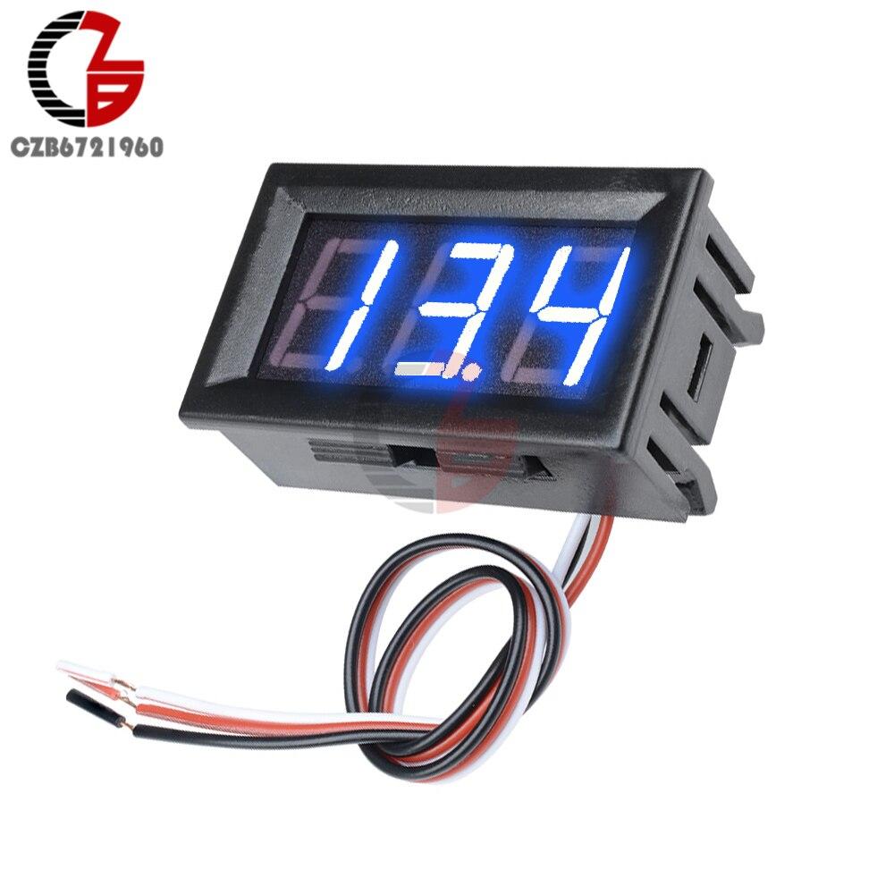 """HTB1JjnNXNrvK1RjSszeq6yObFXa3 3 Wire 0.56"""" LED Digital Voltmeter Voltage Meter Car Motorcycle Volt Tester Detector DC 12V Capacity Monitor Red Green Blue"""
