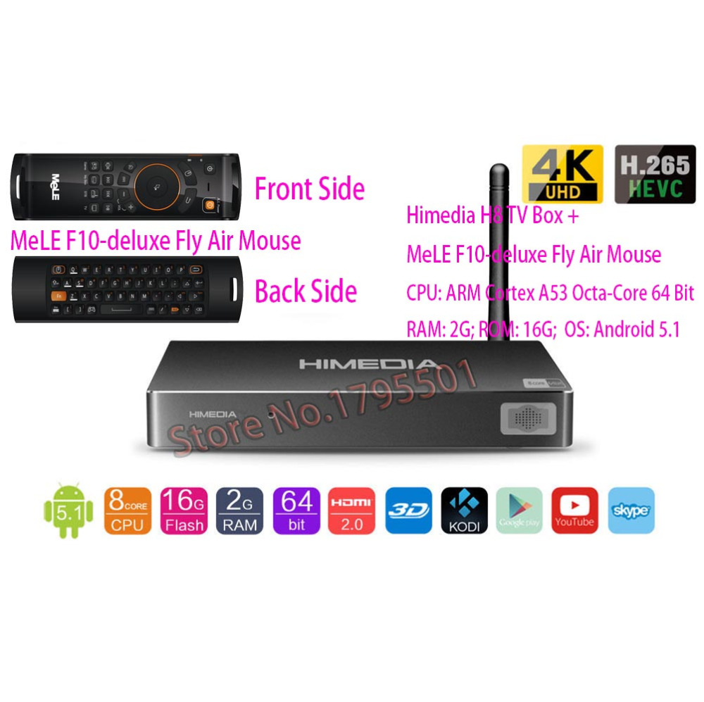 Himedia H8 Octa Core Android Tv Box 2gb 16gb 3d 4k Uhd Home H96 Pro Plus S912 Octacore 3gb 32gb Network Media Player Mele F10 Deluxe Fly Air Mouse In Set Top Boxes From Consumer