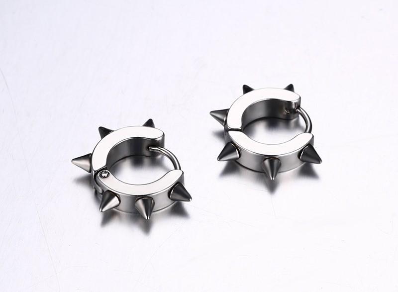 HTB1JjnXKXXXXXbhXXXXq6xXFXXXU - Men's Bold Clasp Spiked Earrings