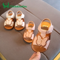 Claladoudou 12 14CM Baby Girls Sandals Pu Leather Cute Bowtie Soft Summer Shoes Infant Girls T