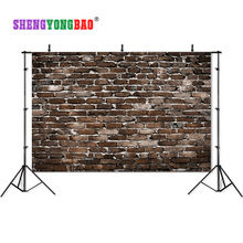SHENGYONGBAO Vinyl Custom Brick Wall theme Photography Backdrops Prop Photo Studio Background YHSHD-01 цена в Москве и Питере