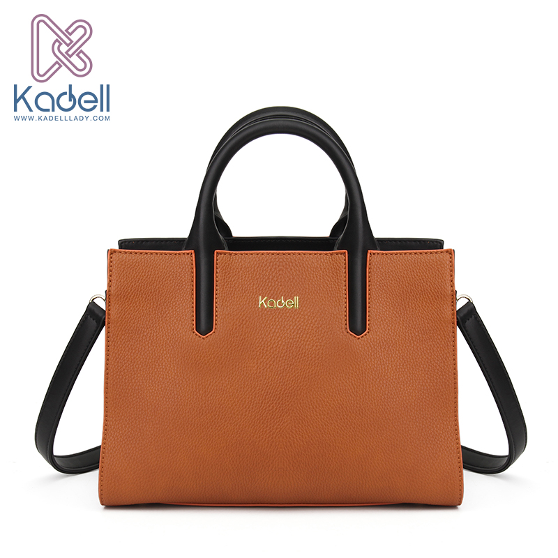 Kadell Ladies Hand Bags Business Women Messenger Bags Famous Brands OL Vintage High Quality Brown Fashion PU Leather Bag Totes 2016 pu leather vintage bag 2 colors patchwork women messenger bags fashion ladies bag good quality famous brand