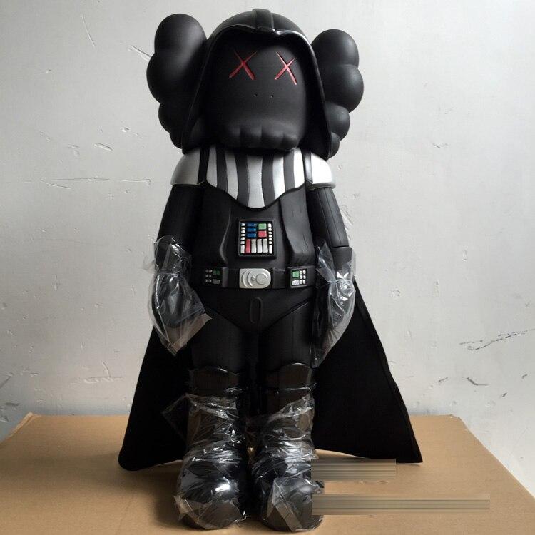 20 pouces kaws original fake star wars noir chevalier sombre dark vador poupées medicom toy