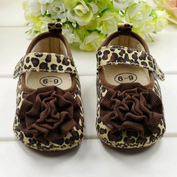 Hot Sell Baby Children's Girls First Walkers Toddler Fashion Leopard Flower Princess Soft Shoes Size 123