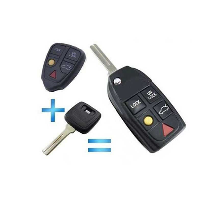 Volvo C90 Price: For Volvo Remodeling Flip Remote Key Case Shell 5 Buttons