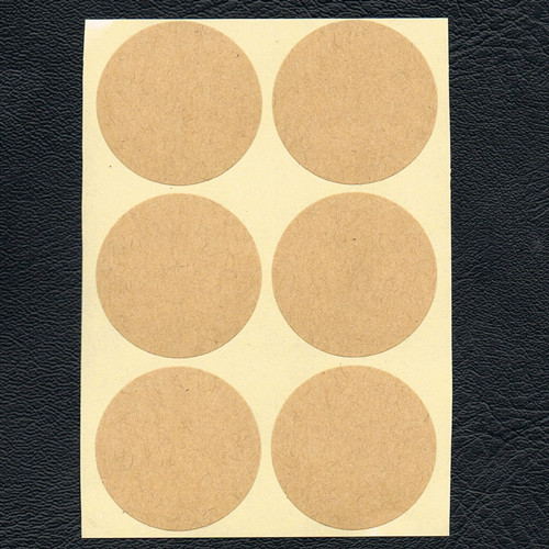 Wholesale free shipping 500pcs lot 30mm round hand made kraft paper sticker label round shape