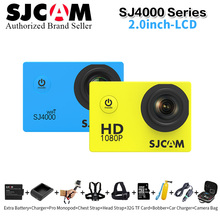 SJCAM SJ4000 & sj4000 wifi sports action camera Full HD1080P Sports DV Novatek 96655 Helmet Waterproof Camera Mini DV Diving 30M