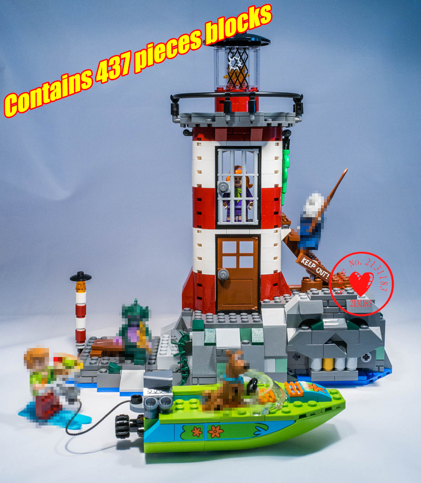 Scooby Doo Model building block Bricks Haunted Lighthouse Educational Kids diy Toy Gifts compatiable with lego kid gift set scooby doo team up