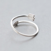 925 Sterling Silver Arrow Designed Ring