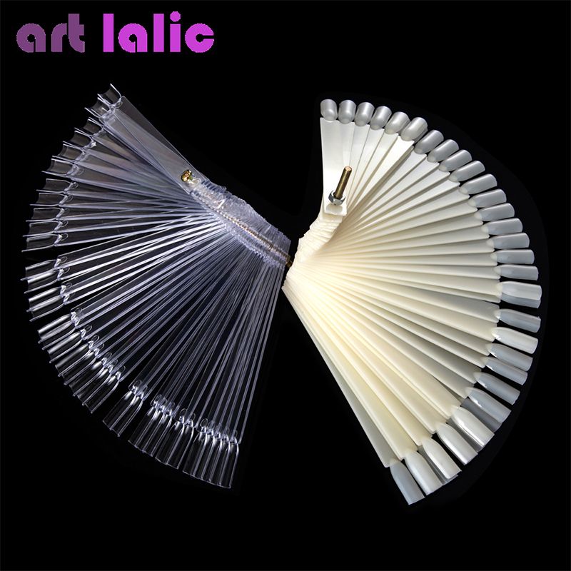 Falsche Anzeige Nail Art Fan Rad Polnisch Praxis Bord Tip Sticks Nail Art 50pcs Nagellack / Nagel Dekoration Display