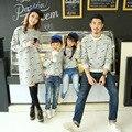 Свободного покроя семья одежда одежда мать / мама и дочь одежда отца сыну соответствия одежды семья стиль комплект CP75