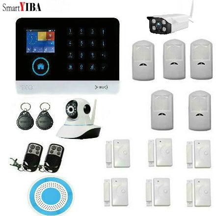 SmartYIBA Wifi GSM GPRS RFID font b Alarm b font Home Burglar Security font b Alarm