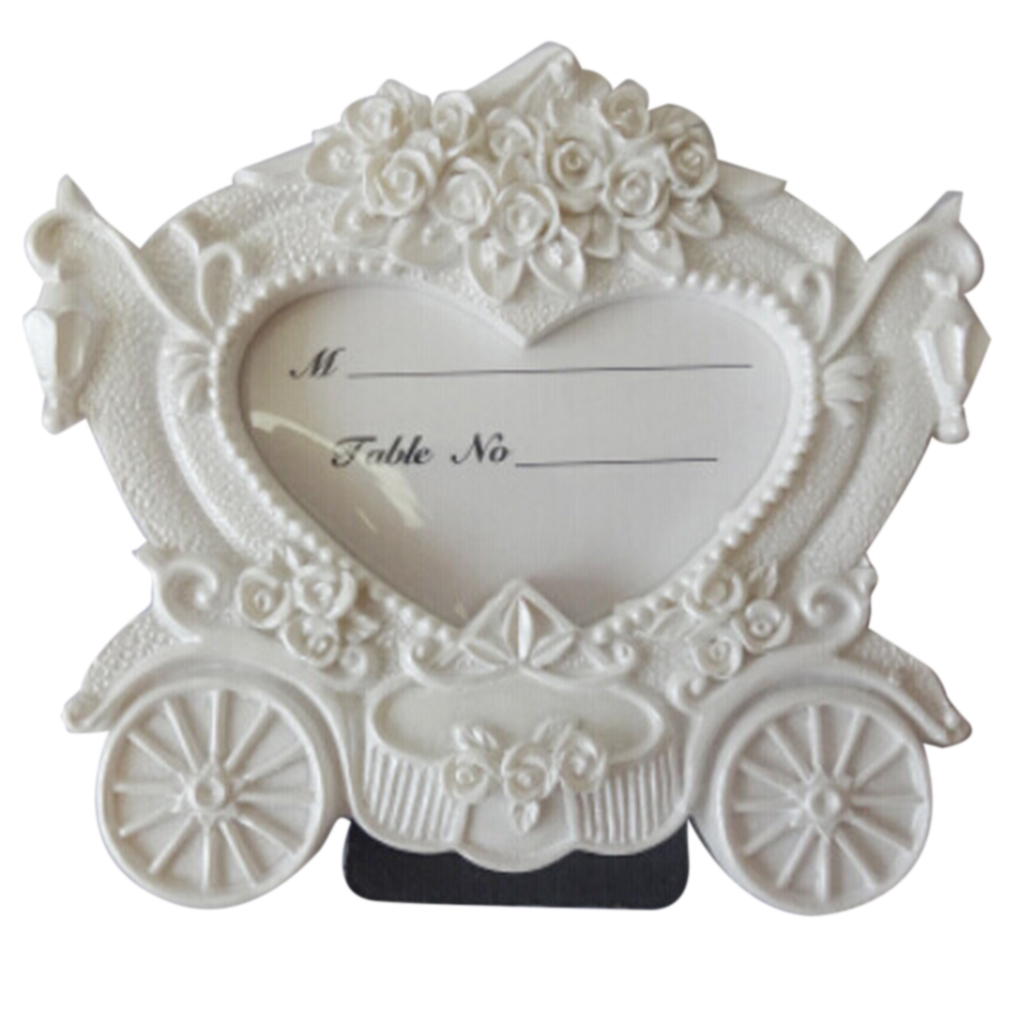 Pumpkin Cart Photo Frame Wedding Baby Kids Picture Frame Name Memo Card Holder