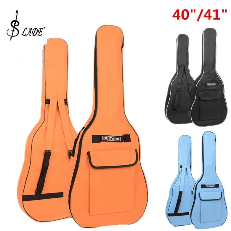 SLADE 40 41 Inch Oxford Fabric Acoustic Guitar Gig Bag Soft Case Double Shoulder Straps Padded