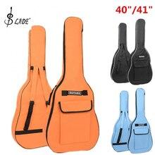Слейд 40/41 дюймов Оксфорд ткань акустическая большой чехол для гитары мягкий чехол двойной плечевой бретели для нижнего белья прошитый, для гитары водонепроница