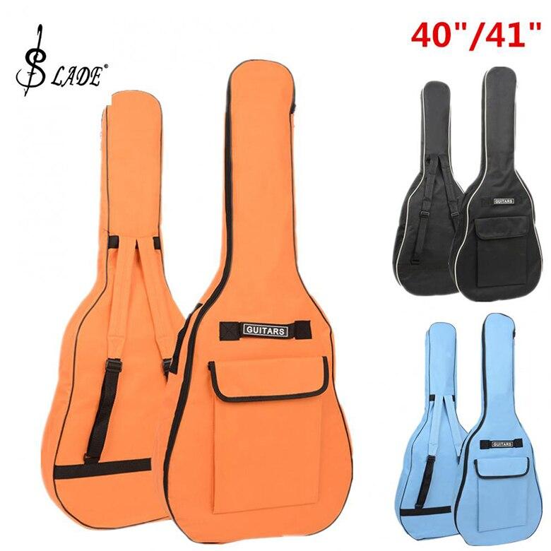 SLADE 40/41 pulgadas Oxford tela acústica guitarra Gig bolsa suave funda doble hombro correas acolchadas guitarra impermeable mochila