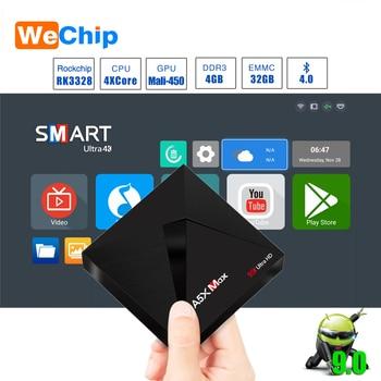 A5X MAX Smart Android 9,0 ТВ коробка 4 K HD tv Box RK3328 Quad-Core Media Player Поддержка 2,4G Wi-Fi Bluetooth 4,0 100 м локальной компьютерной приставки к телевизору