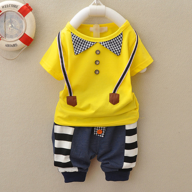Male Child Clothing Set 2014 Baby Boy Summer 0 1 2 Years Old 3 6